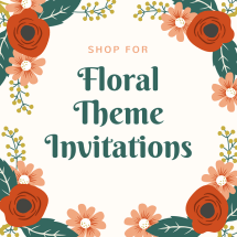 Floral Theme Wedding Invitations - 123WeddingCards