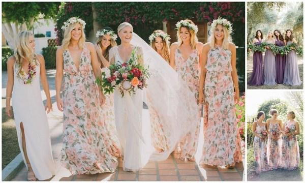Floral Wedding Dress @123WeddingCards