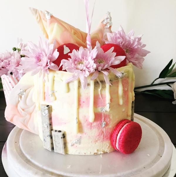 Sponge watercolour cake - 123WeddingCards