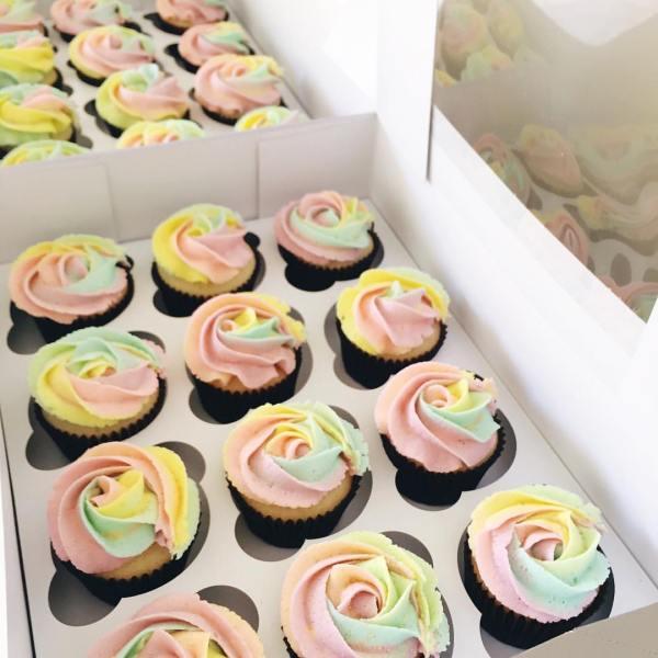 rainbow cupcakes - 123WeddingCards