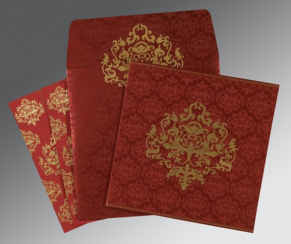 Hindu Wedding Cards - W-8254B - 123WeddingCards