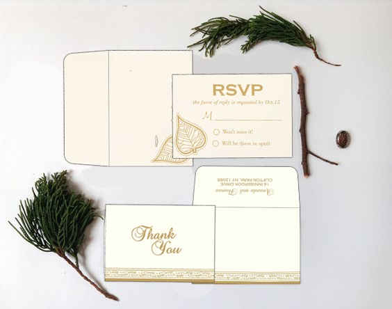 Rsvp and Thank you invitations - 123WeddingCards