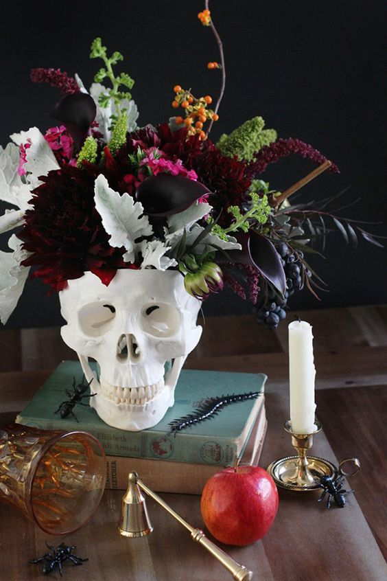Halloween wedding Centerpiece