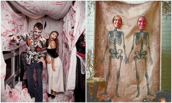 spooky haloween wedding photo-booth