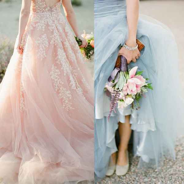 Choose for some soft pastel coloured gown - 123WeddingCards