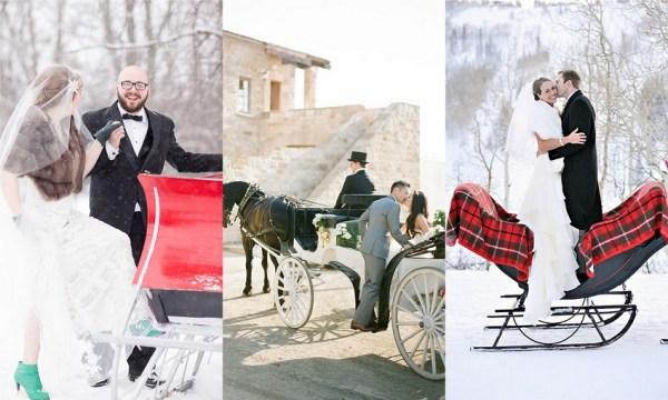 Christmas Wedding Sleigh Ride - 123WeddingCards