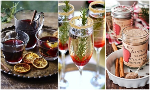 Warm apple cider, mulled wines for Christmas Weddings - 123WeddingCards