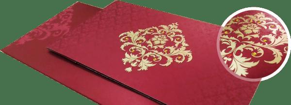 Damask theme wedding invitation - 123WeddingCards