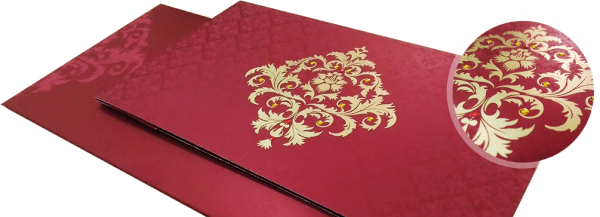 Damask theme wedding invitation - 123WeddingCards