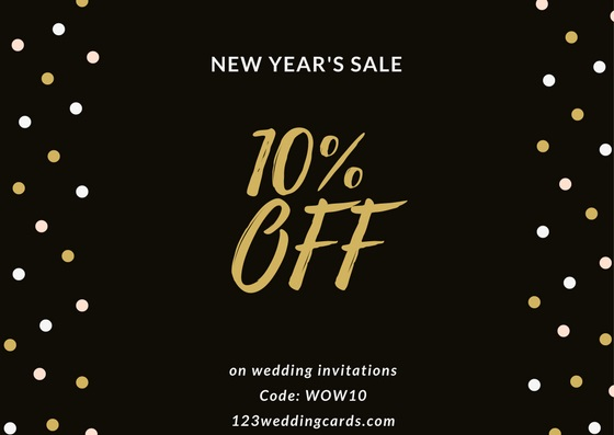 Flat 10% discount on wedding invitations - 123weddingcards.com