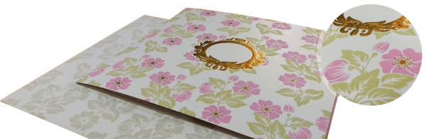 floral theme wedding invitation - 123WeddingCards