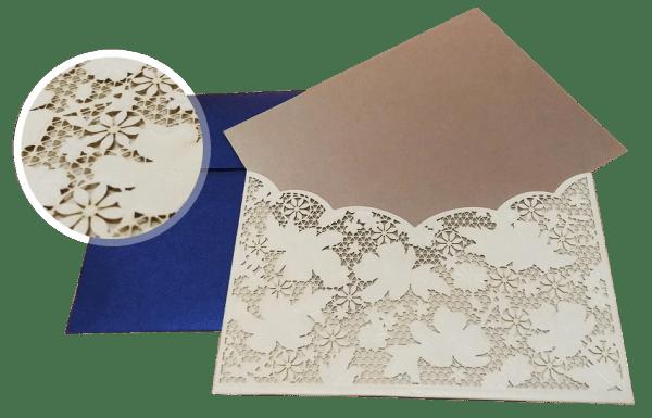 laser-cut process of wedding invitations - 123WeddingCards