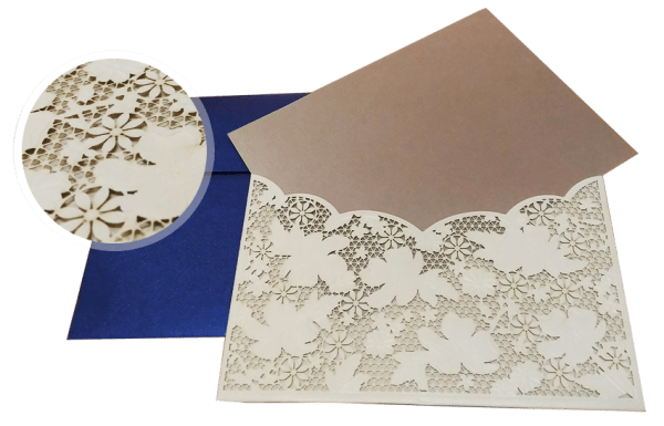 laser-cut process of wedding invitations - 123WeddingCards