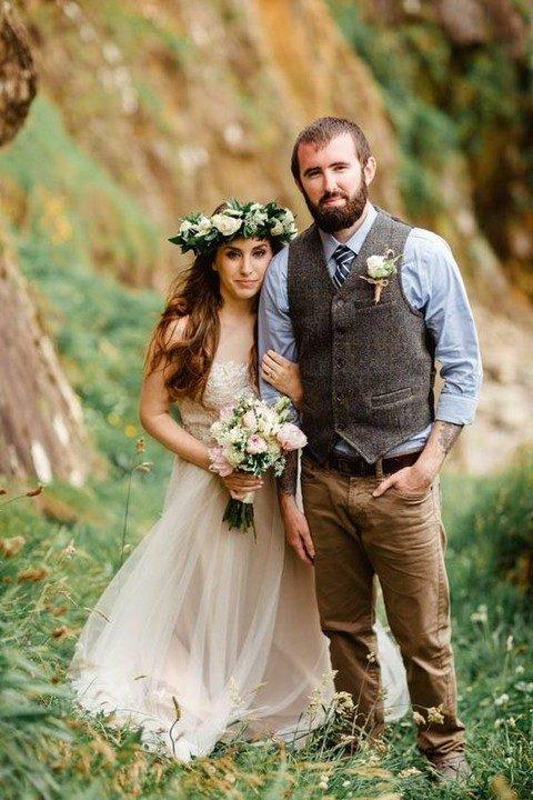 boho groom attire ideas for grooms - 123WeddingCards
