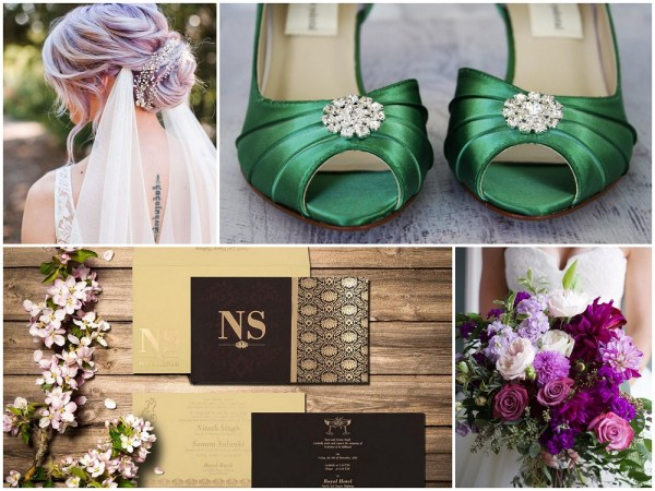 Color Palettes Combinations - 2018 - Custom Green, Gold, White, Mauve