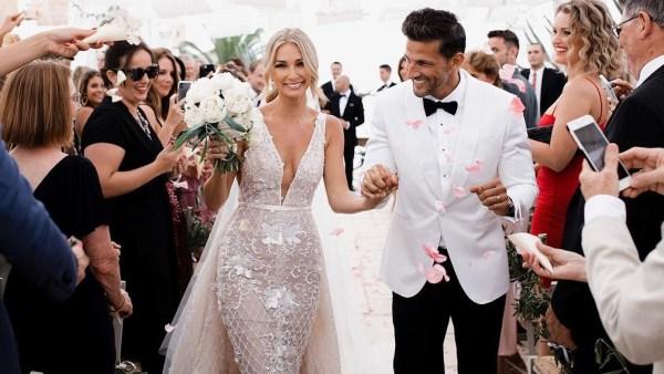 Anna Heinrich and Tim Robards wedding dresses