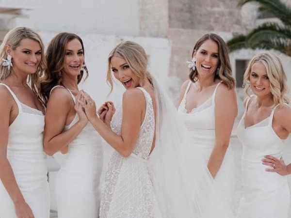 Anna Heinrich with her bridesmaids