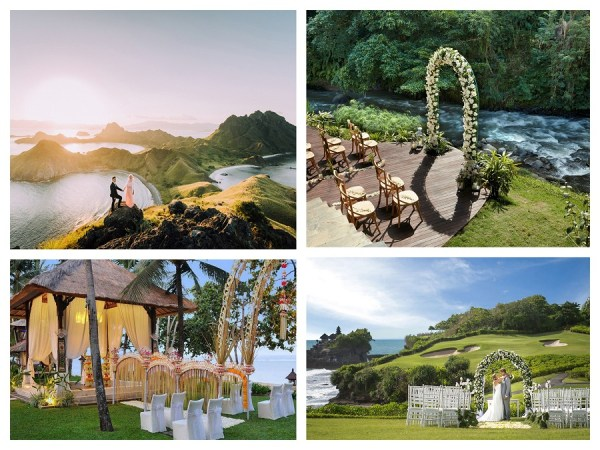 wedding destinations Indonesia suggest by 123WeddingCards