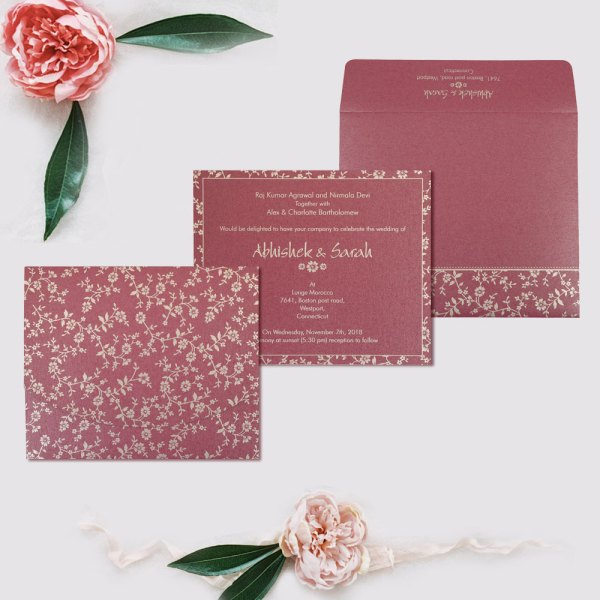 Wedding Card IN-804A by 123WeddingCards