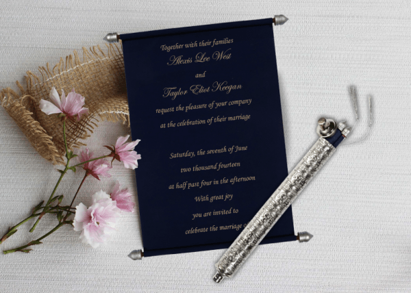 Royal Scroll Invitations