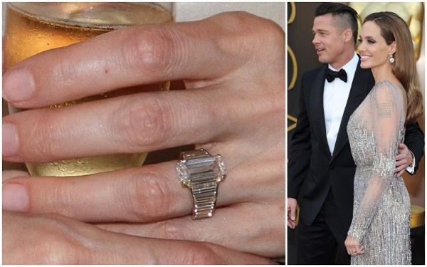 Angelina Jolie & Brad Pitt engagement ring