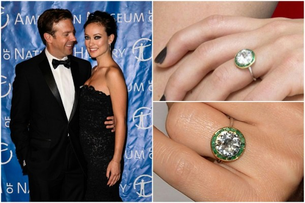 Olivia Wilde & Jason Sudeikis engagement ring