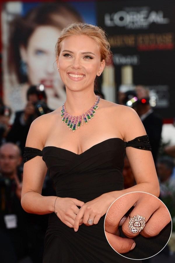 Scarlett Johansson & Romain Dauriac engagement ring