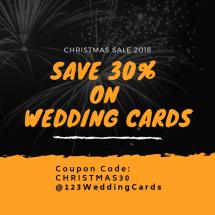 Christmas sale 2018 by 123WeddingCards Save 30%