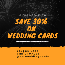 Christmas sale 2018 by 123WeddingCards Save 30%