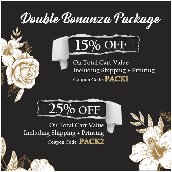 Double Bonanza Spring Offer 2019, Up to 25% Off on everything - 123WeddingCards