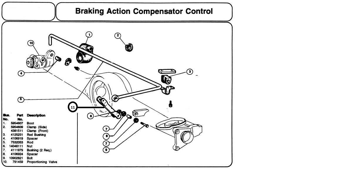 rubber grommet kit brake compensator rod Fiat124 / Dino