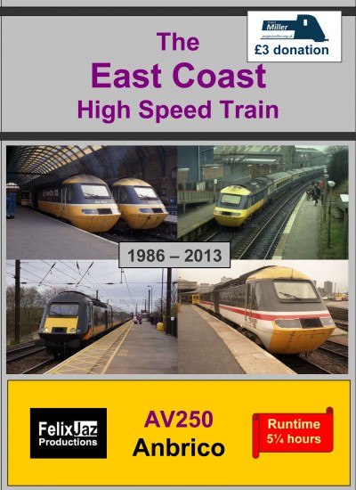 AV250 The East Coast High Speed Train 4 DVD Set