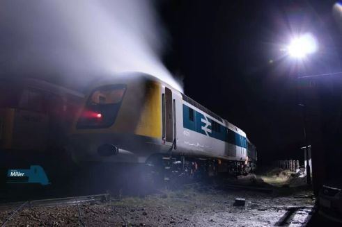 41001 seen at Ruddington in the atmospheric winter evening (c) James Trebinski
