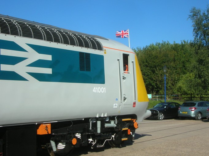 Fine British Engineering, 41001 proudly on display at Ruddington during their 2013 diesel gala