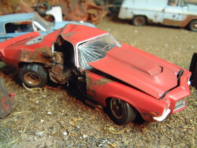 Car Wrecks Wallpaper T Boned 70 Camaro Built Wreck Chevy Wrecks ⋆ 125scale