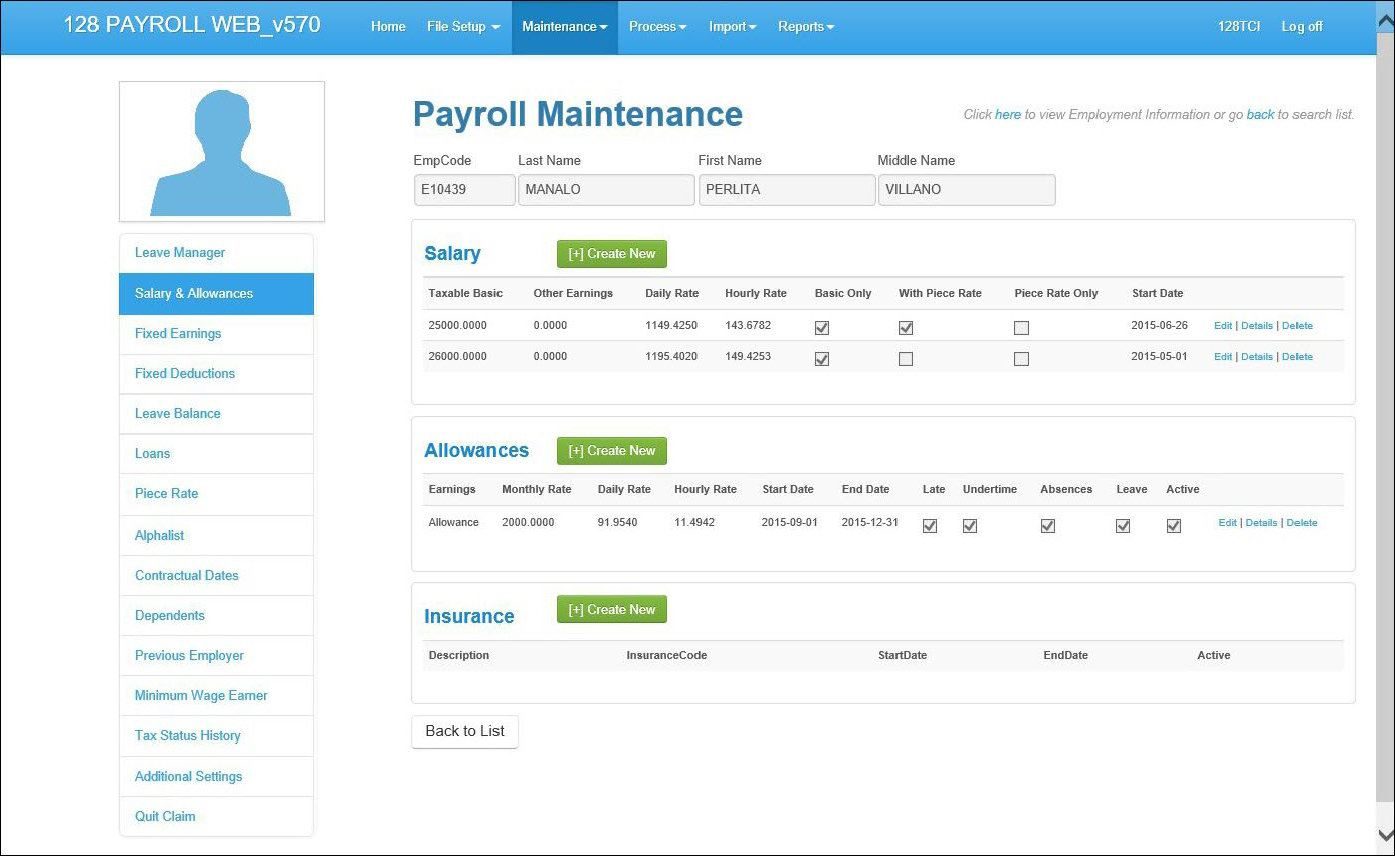 PAYROLL SYSTEM  128 TECH CONSULTING INC