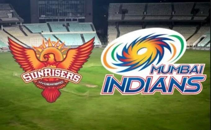 Sunrisers Hyderabad vs Mumbai Indians. Source: rooter.io
