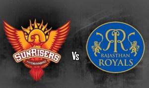 Sunrisers Hyderabad vs Rajasthan Royals . Source: www.india.com