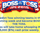Become one of the winners in 12BET's Boss of the Toss and IPL 2019 Lucky Draw