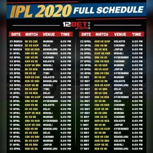 IPL 2020 full list of schedule by venue