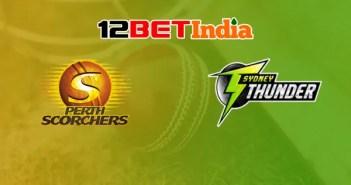 12BET Predictions BBL 2020-21 Match 34 Perth Scorchers VS Syndey Thunder