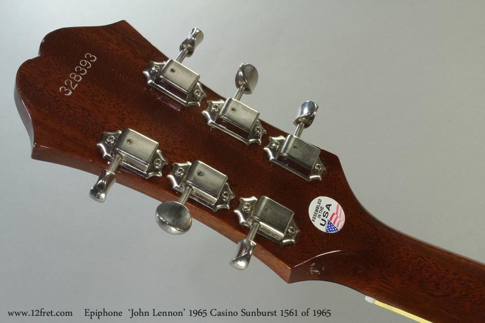 medium resolution of epiphone john lennon 1965 casino sunburst 1561 of 1965