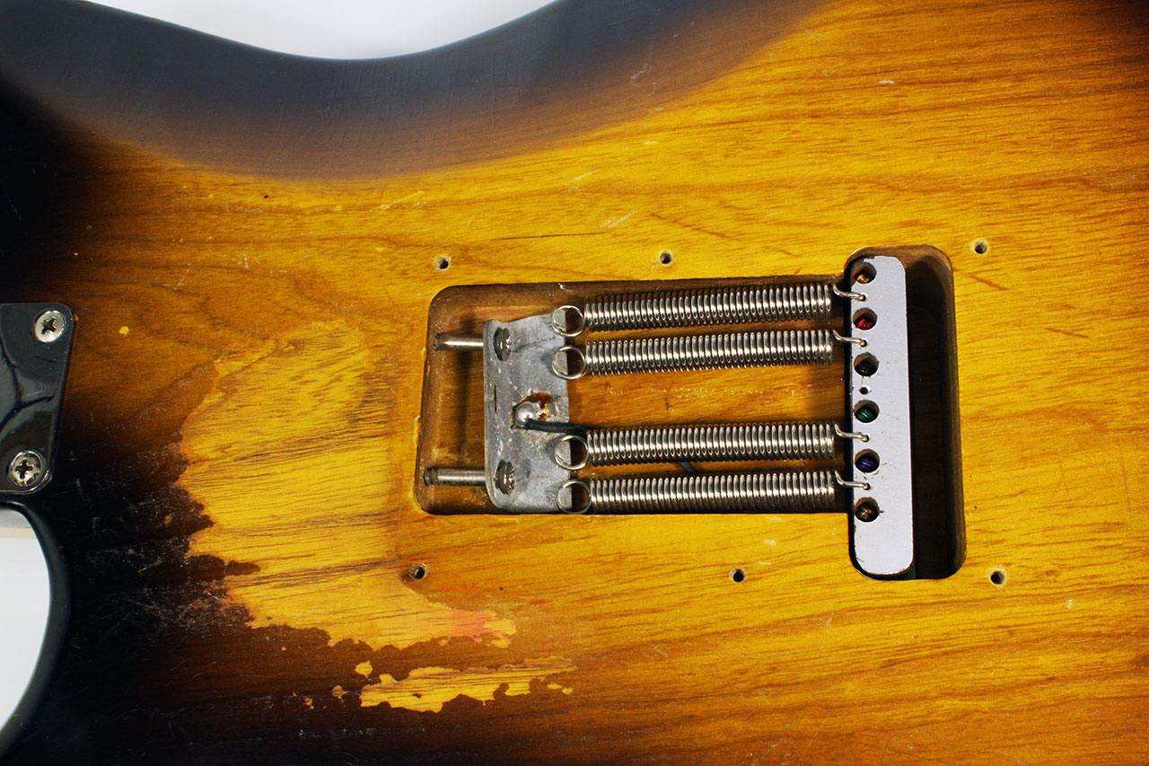 strat six hole bridge