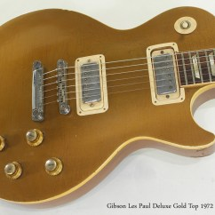Gibson Les Paul Studio Deluxe Wiring Diagram Electric Hot Water Heater Thermostat 1972 Gold Top Sold 12fret