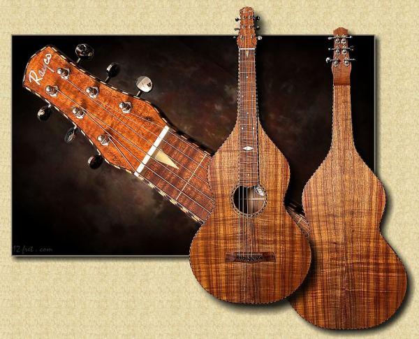 Rayco Weissenborn Style Hawaiian Guitar Master Grade Koa