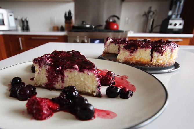 berry protein cheesecake