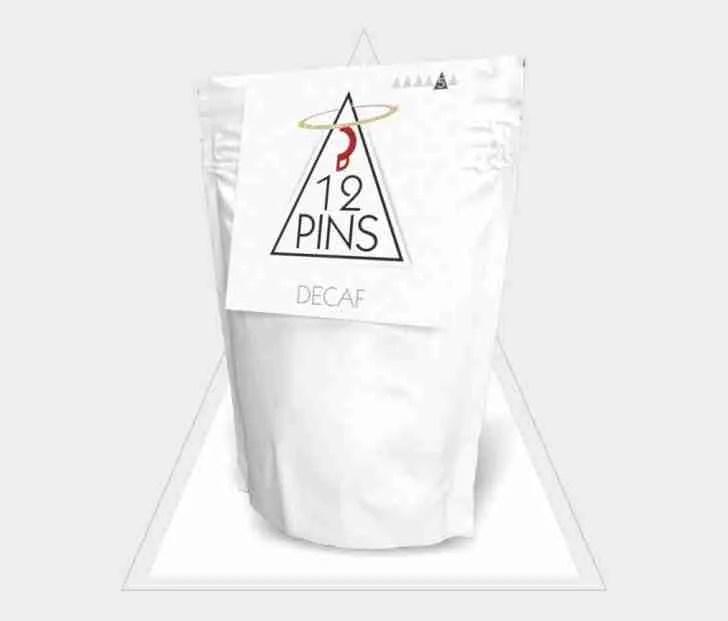 12 Pins Decaf coffee pouch
