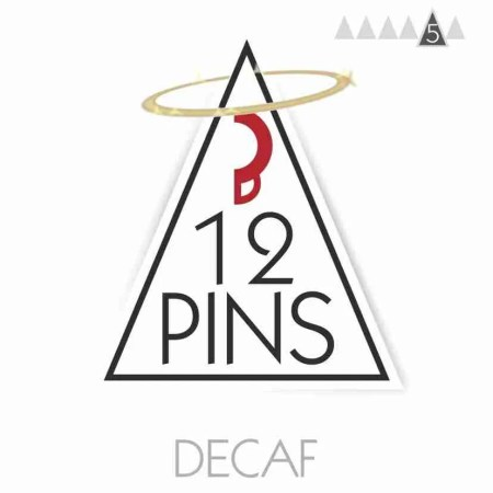 12 Pins Decaf Coffee Label