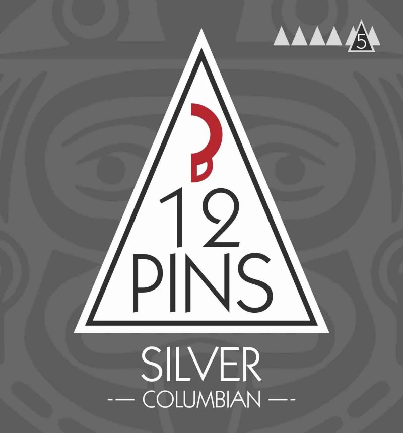 12 Pins Columbian Coffee - Silver