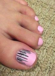 cool toe nail design